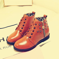 ash wedge boots - Flat bottom low in Europe and America in the fall with Martin low adds plush warm Zip Boots women boots ASH