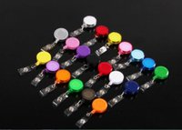 Wholesale Random Color Retractable Ski Pass ID Card Badge Holder Key Chain Reels With Metal Clip MYY4041