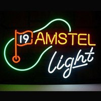 amstel light neon - 17 quot x14 quot Amstel Light Beer Th Hole Golf Design Real Glass Neon Light Signs Bar Pub Restaurant Billiards Shops Display Signboards
