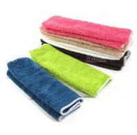 Wholesale kitchen Housework absorbent microfiber cleaning cloth dish towel non stick oil washing Dishclout cleaning cloth ultrafine Tools
