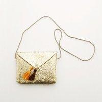 bling backpack - Children s sequins bag Shiny golden little tassel bag bling bling bag
