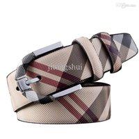 Wholesale Hot Men Luxury Leather Belts Vintage Plaid Needle Buckle Brand Fashion Belt Casual Men Business Designer Belts High Quality