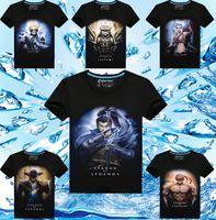 Wholesale Cotton Superhero T Shirts - 3D printed T-Shirts fashion men 3D game superhero print tees cotton short sleeve t shirt summer clothing apparel white black