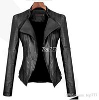 leather jackets for women - 2016 Autumn Winter new Women leather jackets Short PU jacket coat Black European style Slim leather jackets for women D0706