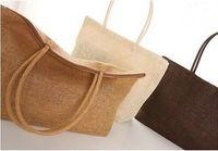 beach bag straw - 2015 New hot fashion Women Straw Summer Weave Woven Shoulder Tote Shopping Beach Bag Purse Handbag straw Beach Bags women shoulder bag