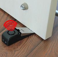 Wholesale 10pcs bagHotel door blocking the door burglar alarm alarm door alarm plug travel doorstop alarm