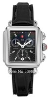 michele watch - New Ladies Luxury Michele Deco Day MWW06P000021 Diamonds Chronograph Function Black Dial Swiss Quartz Dress Watch