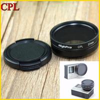 Wholesale High quality Super mm Gopro CPL Filter Circular Polarizer Lens Filter Cap for Gopro Hero3 Hero3 Hero