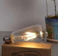 Wholesale NEW E27 W W W Bombillas AC110 V COB LED Bulb Filament Led Bulb Christmas Lights Home Lighting Ultra Bright LED Filament Bulbs