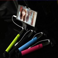 Wholesale Folded z07 S wireless Extendable Handheld Selfie Stick Monopod Tripod With Shutter Release for ios android iphone plus samsung