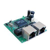 achat en gros de interrupteur ethernet-Shenzhen Fabricant Stock Ethernet Switch network Switch 2 port rj45 Avec 1 broche Hub pour Power 5v 1a 1.7mm Port Mini Board pour robot