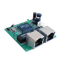 al por mayor interruptor de encendido ethernet-Shenzhen Fabricante Interruptor de red Ethernet Conmutador 2 puertos rj45 Con 1 cabezal de clavijas Hub para alimentación 5v 1a 1,7mm Puerto Mini placa para robot
