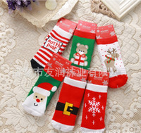 baby beers - 2 Baby Boys Girls Christmas Cotton Socks Designs Santa Claus Reindeer Snowflake Beer Sockings