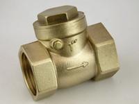 Wholesale Solar brass check valve points DN15 DN20 DN20 horizontal check valves