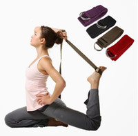 Wholesale 183 cm Professional Cotton Long Type Yoga Stretch Strap Training Belt Waist Leg Fitness Gym Adjustable Yoga Stretch Strap DHL Free