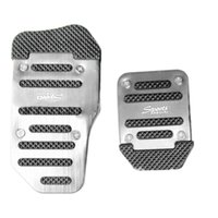 Wholesale 3pcs Automatic Catch Non slip Alloy Pad Pedal Aluminium Foot Treadle Cover Silver