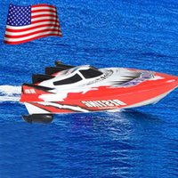 best boat battery - USA Stock C202 Radio Control Racing Speed Boat High Performance Watercraft Toys Kid s Best Gift