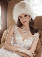 beauty hat - 2016 Hot Fur Bridal Hats Russian Girls Winter collection Fashionable Russian Beauty Fur Hat Ivory Cheap Warm Daily Hats