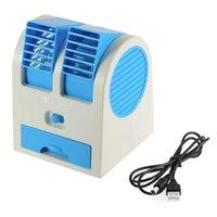 Wholesale Portable USB Ultra quiet No Leaves Mini Air Conditioning Fan Aromatherapy Fan ventilador ar condicionado air conditioner