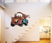 big car decals - CARS Wall Mural Stickers Decal BiG MATER Kids Room Nursery Art Decor