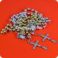 rosary - Rosary Beads INRI JESUS Cross Crucifix Pendant Necklace Catholic Fashion Religious jewelry
