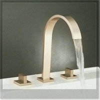 bathtub surfaces - Fashion Waterfall Bathtub Faucet Set Surface Mounted Nickel Mixer Tap L emergi