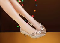 beautiful prom shoes - Bridal shoes Wedding Shoes Rhinestone High Heel Party Prom Women Shoes Wed Shoes Bridesmaid Shoes Champagne Pearls Beautiful Shoes