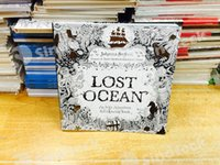Wholesale Lost Ocean Secret Garden Colouring Book for Adult Kids Creative Therapy Doodling Drawing Books Thread Binding Free DHL