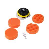 Wholesale New set Car Polisher inch Polishing Buffer Sponge Pad Set Drill Adapter Drop shipping