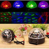 Wholesale US Stock Mini DMX512 Digital RGB LED Effects Stage Lighting Party Disco DJ LED Crystal Ball Light Lights for Bar KTV