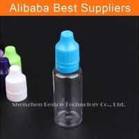acid cigars - New type round plastic bottles e liquid ml pet with tamperproof safety cap for e cigar liquids