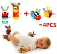 Wholesale waist socks baby rattle toys Sozzy Garden Bug Wrist Rattle and Foot Socks
