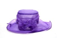 Wholesale 2014 Fashion Ladies Wide Brim Hats Sun Hats colours Polyester hats one size Kentucky Derby Wedding Church Party summer Beach sun hats