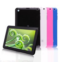 Wholesale US Stock New IRULU Inch Tablet PC Quadcore Google Android4 Allwinner A33 Tablet GB Capacitive Tablets Dual Camera WIFI Bluetooth
