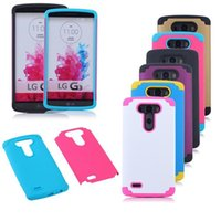 Plastic best hard cover - Best Price Hybrid Layer Hard Plastic Soft Silicone Case For LG G3 D850 in Fashion Back Cover Skin