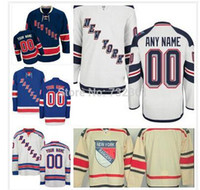 jerseys for kids - 2015 Customized Custom New York Rangers Jerseys Personalized Stitched Ice Hockey Jerseys For Men Women And Kids