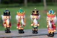 Wholesale 4pcs German soldier nutcracker doll walnut creative home gift ornaments Desktop Decoration Drawing Walnuts Soldiers