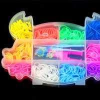 Cheap Fun colourful loom bands DIY bracelets rubber rainbow band bracelet the summer gift toy for children child