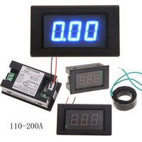 Wholesale High quality A Digital Ammeter AMP Meter With Current Transformer Mutual Inductor with Green backlight MTY3