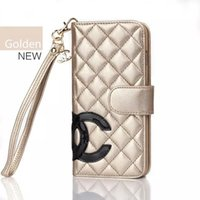 phone case purse - New Luxury Sheepskin Leather Phone Cases For Apple iPhone s c plus Samsung Galaxy S5 S6 edge Note With The Cardholder s Purse