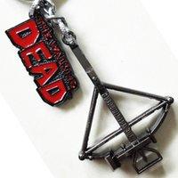 amc movies - New Arrival AMC The Walking Dead Daryl Dixon crossbow Logo Black cm Metal Keychain keyring