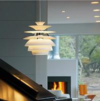 ceiling chandeliers - Modern Louis Poulsen Snowball Pendant Light By Poul Henningsen suspension pendant lamp PH snowball ceiling lighting Denmark chandeliers