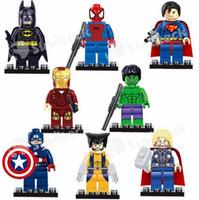 Wholesale The Avengers Blocks Set Marvel Super Heroes Series Minifigures Building Blocks Toys New Kids Gift Free DHL Factor