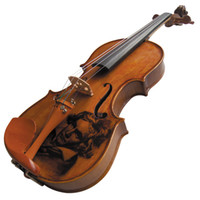 Wholesale Kinglos Full Size Ebony Fitted Solid Wood Colored Carving Violin with Case Bow Rosin XJY005