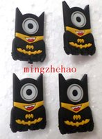 Cheap New Sale 2015 Arrive New 100 Pcs lot Design Cartoon Minions Cosplay Batman PVC Badge Button Cartoon & Anime characters,kids accessories