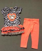 baby clothes outlets - self esteem girls skirt suit T shirt pants Lace zebra baby clothes Summer jacket baby weat outlets sets Q8