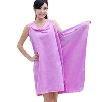 rectangle towel wrap - Women Lady SPA Shower Towel Body Wrap Bath Robe Bathrobe Magic Spa Beach Dress Swimwear wash clothes Nx111