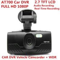 Wholesale New AT700 TFT LCD FULL hd P CAR DVR Car Camera Vehicle Camcorder WDR super Night Vision G Sensor Degree Wide Angle Car DVR Recorder