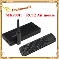 Wholesale WiFi Antenna Tronsmart MK908II RK3188 Quad Core Android Mini TV Box HDMI PC Stick Dongle GB RAM MK908 II RC12 Air mouse