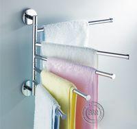 Wholesale Freeshipping B R Fashionable space aluminum bars flexible degree rotating moving Towel rack towel rail towel rod BR